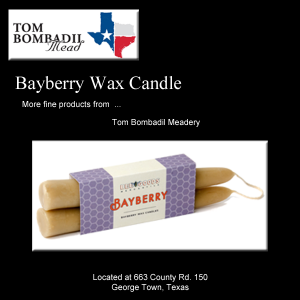 Bayberry Scented Beeswax Candle – (2 Pack)